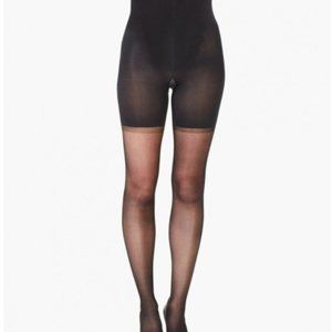 SPANX Sheers! BlackHigh Waist Invisible Hose D NWT